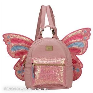 PINK BUTTERFLY MINI BACK PACK W/REMOVABLE WINGS
